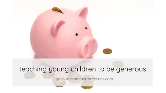 teaching young children to be generous