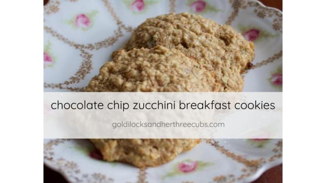 chocolate chip zucchini breakfast cookies by goldilocks + her three cubs