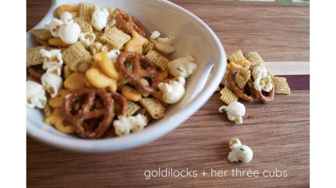 Parmesan ranch Chex mix by goldilocks + her three cubs