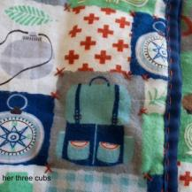 Simple Whole Cloth Quilt by goldilocks + her three cubs