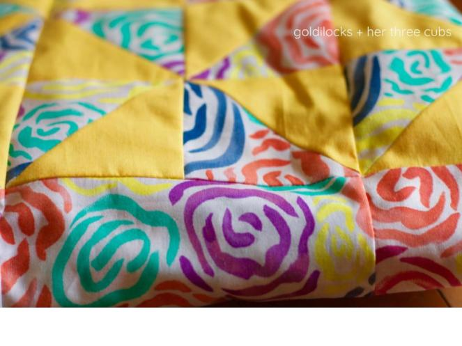 Heart Builders Pinwheel Quilt Top by goldilocks + her three cubs